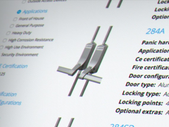 I developed the website and designed/developed the specifier for Exidor's panic hardware and door closer ranges.